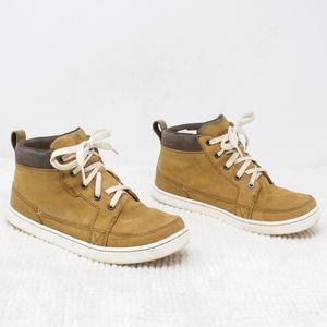 LL Bean Suede Ankle High Sneakers Shoes Size 6